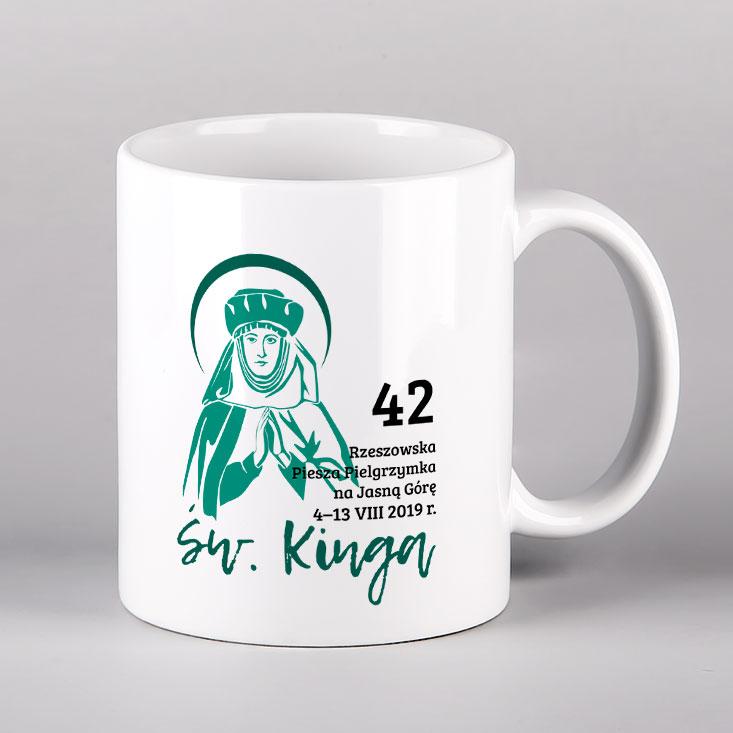 Kubek ceramiczny św. Kinga Drukarnia Bonus Liber