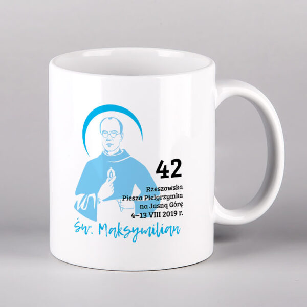 Kubek ceramiczny św. Maksymilian Drukarnia Bonus Liber