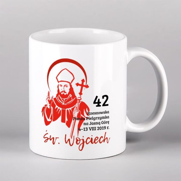 Kubek ceramiczny św. Wojciech Drukarnia Bonus Liber