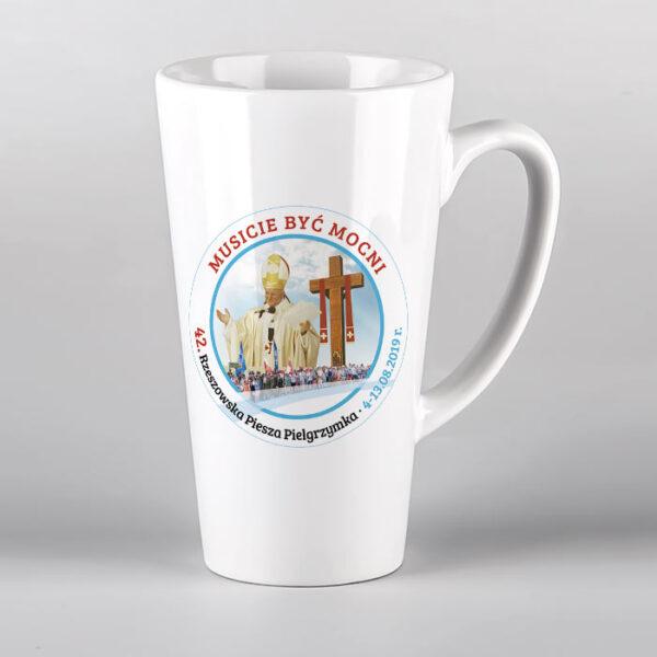 Kubek ceramiczny latte 42 Pielgrzymka Rzeszowska Drukarnia Bonus Liber