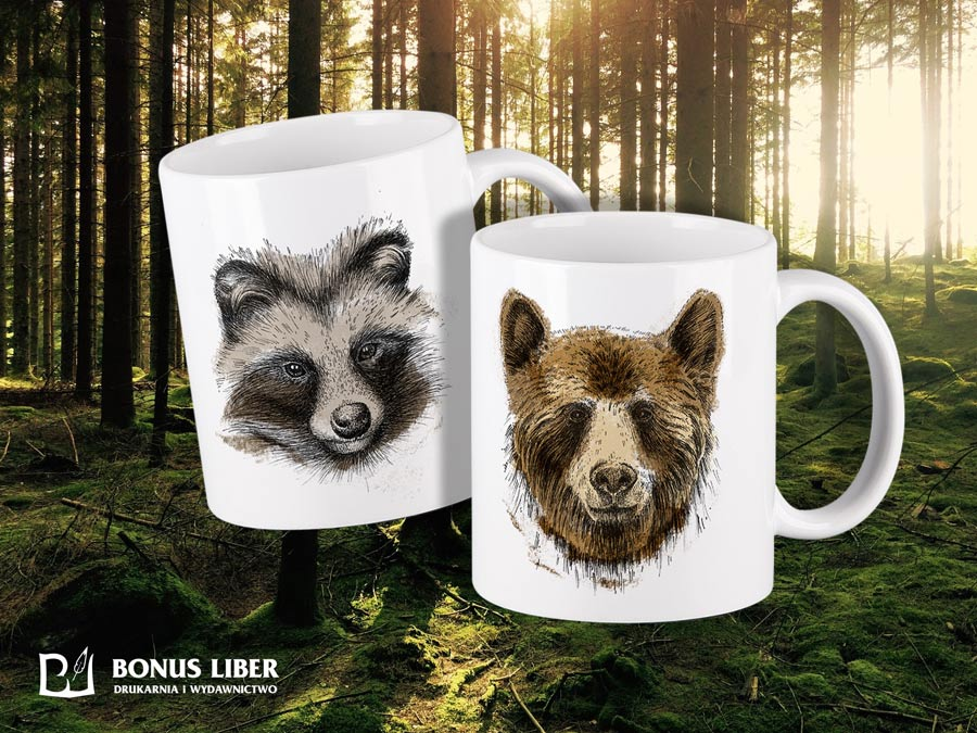 kubki-ceramiczne-natura-wilk-borsuk-niedźwiedź